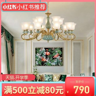 All copper pendant contracted sitting room lamps and lanterns of double entry floor bedroom villa hall restaurant dining room of the light ceramic chandeliers