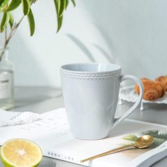 Ijarl Nordic creative ceramic coffee cup breakfast cup drink cup household milk cup mug cup of the sea