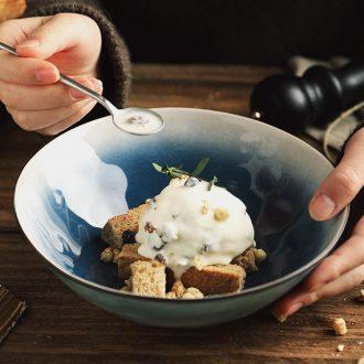 Million fine ceramic salad bowl household tableware Nordic ins web celebrity stars large rainbow noodle bowl bowl of fruit porridge