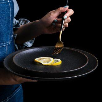 Black phnom penh dish Nordic combination suit dish home round western breakfast steak dish fish dish creative ceramics