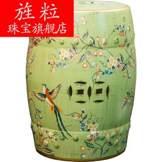 Cx American ceramic drum stool sits stool round drum stool furnishing articles of new Chinese style household act the role ofing is tasted sit pier stool the sitting room porch in shoes