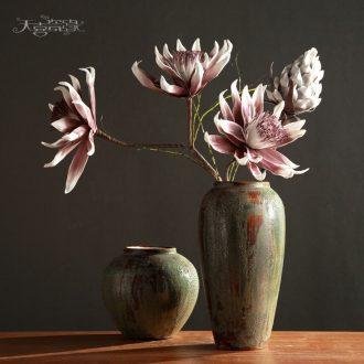 Jingdezhen restoring ancient ways do old coarse pottery vase sitting room dry flower arrangement of TV bar face ceramic decoration furnishing articles