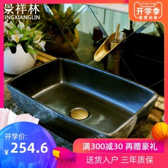 JingXiangLin european-style rectangle jingdezhen art basin lavatory sink the stage basin & ndash; Keeping abreast