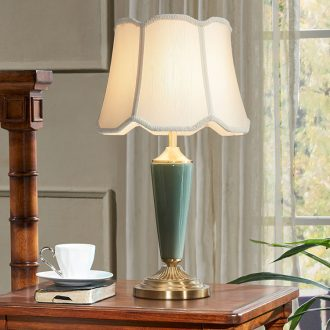 Doren American desk lamp contemporary and contracted Nordic light much originality of bedroom the head of a bed full of copper ceramic desk lamp sitting room study