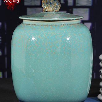Jingdezhen ceramic large wake receives the puer tea cake caddy tanks household seal pot porcelain POTS