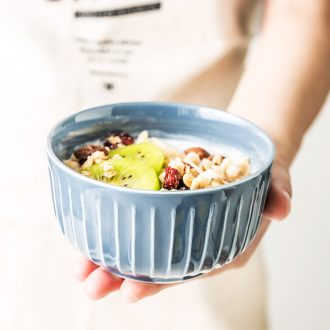 A single meal ceramic bowl of nice bowl with rice porridge soup bowl household individuality creative business restaurant