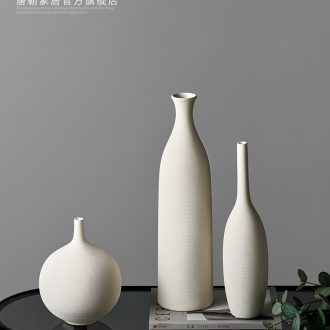 The tang dynasty white ceramic flower vases contemporary and contracted dry flower flower implement the sitting room TV ark household soft adornment