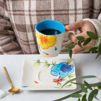 Ijarl American ceramic tableware suit mark cup creative contracted milk pot teapot sugar pot