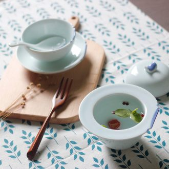 TaoXiChuan jingdezhen creativity has been gloriously enrolled ceramic tableware suit combination of Chinese style household dishes soup cup coffee cup