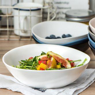 Sugar water dessert salad bowl ceramics creative fruits and vegetables cute single alien Nordic ikea irregular shallow bowl