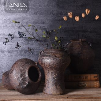 Jingdezhen manual coarse do old archaize unearthed some ceramic jar jar may flower flower vases, flower pot home stay facility to restore ancient ways