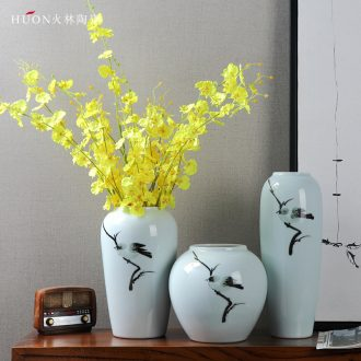 Jingdezhen ceramic new Chinese vase television mesa wine sitting room dried flowers flower arrangement of modern home decoration furnishing articles