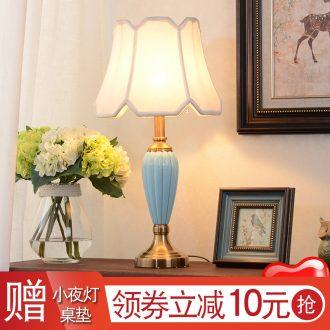 American contracted ceramic desk lamp bedroom berth lamp home sitting room study hotel villa decoration lamp