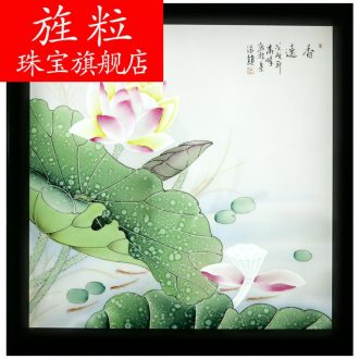 Jingdezhen ceramic decoration q7 XiangYuan hang a picture to arts and crafts porcelain plate painting murals of the study of new Chinese style office