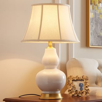 American ceramic desk lamp bedroom berth lamp between contemporary and contracted full copper example study Angle of sitting room sofa a few desk lamp
