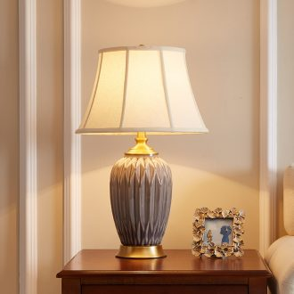 American ceramic desk lamp with contemporary and contracted sitting room european-style sweet atmosphere villas full copper desk lamp of bedroom the head of a bed