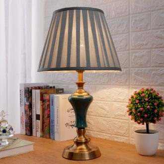 American desk lamp bedroom the head of a bed lamp light creative luxury contracted and contemporary Chinese style restoring ancient ways to decorate ceramic european-style warmth