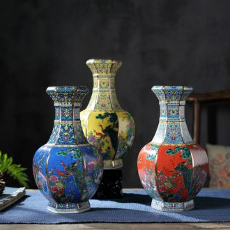 Jingdezhen ceramics vase furnishing articles of Chinese flower arranging office sitting room wine rich ancient frame TV ark adornment