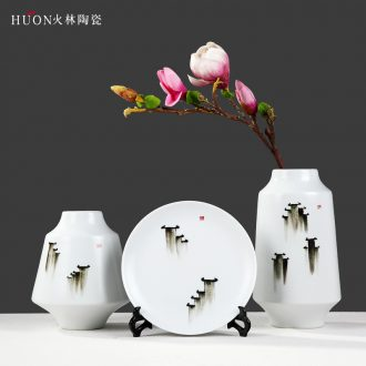 Modern Chinese ceramic flower implement furnishing articles process wine accessories decorative household decoration new housewarming gift vase