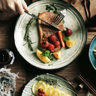 Nordic ceramic tableware, literary web celebrity good-looking Japanese new creative western food steak dinner plates