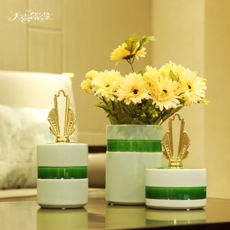 Jingdezhen new Chinese vases, flower arranging wine furnishing articles the sitting room porch desktop decoration TV ark creative decorations