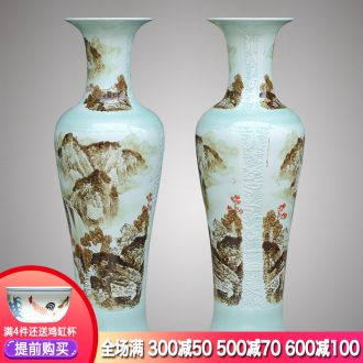 Jingdezhen ceramics hand-painted sitting room of large vase 1 m 2 TV ark of new Chinese style porch place gifts