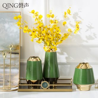 New Chinese style living room flower arranging jingdezhen ceramic vase furnishing articles contracted Europe type desktop vase decoration arranging flowers