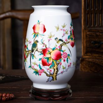 Jingdezhen ceramics powder enamel floret bottle of flower arranging dried flower Chinese style living room TV ark furnishing articles household wine ark adornment