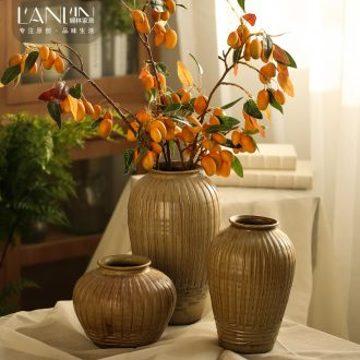Manual coarse some ceramic pot vase furnishing articles sitting room rural American dried flower arranging flowers antique home decoration of jingdezhen