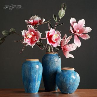 Jingdezhen ceramic flower vases furnishing articles of the sitting room TV ark wine household craft ornaments clay coarse pottery