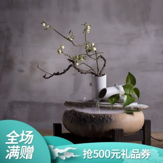 Million kilowatt/hall ceramic water furnishing articles feng shui plutus humidifier water language of flowers open household to decorate the living room