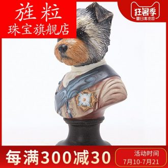 German global group European household dogs zodiac adornment penjing art ceramic bedroom set
