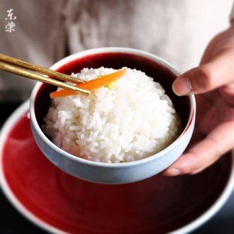 Nordic restoring ancient ways of jingdezhen footed bowl individual household eat rice bowls bowl Japanese dessert bowl of Chinese ceramics