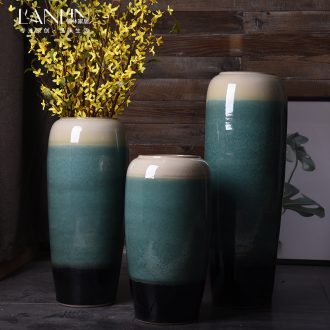 Jingdezhen ceramic European vase landing large contemporary and contracted sitting room porch simulation flower vases, flower arranging furnishing articles