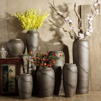 Ceramic vase of large living room TV cabinet decoration to the hotel villa Chinese style restoring ancient ways is dried flower arranging flowers POTS furnishing articles