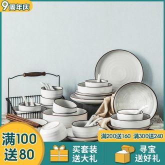 Million jiamei type liling porcelain couple household ceramics tableware suit housewarming gift dishes dishes chopsticks suite