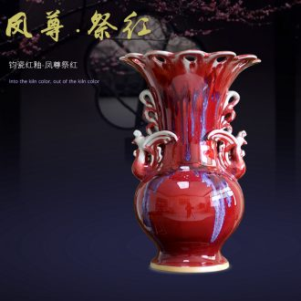 Archaize of jingdezhen ceramics kiln jun porcelain vases, new Chinese style household act the role ofing is tasted the sitting room TV ark furnishing articles
