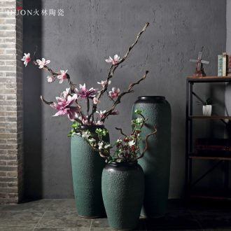 Jingdezhen ceramic vase of large hotel sales department between example club large vases, flower, flower arranging furnishing articles