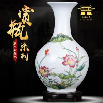 Antique vase of jingdezhen ceramics creative famille rose porcelain decorations adornment of the sitting room of Chinese style household furnishing articles