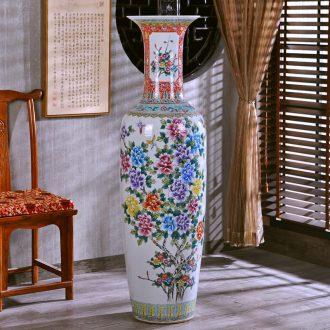 Jingdezhen hand-painted archaize pastel landing crafts are big vase sitting room of modern ceramic vase