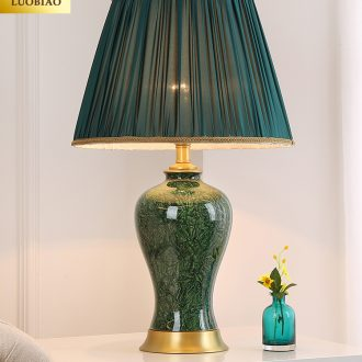 Europe type desk lamp lamp of bedroom the head of a bed creative contracted and contemporary American sweet romance adjustable warm light LED ceramic lamp
