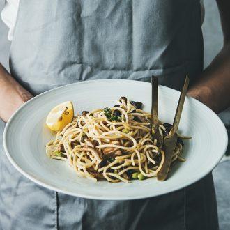 Ins web celebrity ceramic plate pasta dish creative flat plate household western food steak dinner plate