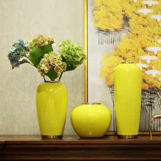 Postmodern new Chinese style ceramic vase furnishing articles dried flower arranging flowers sitting room TV ark contemporary and contracted household decorations