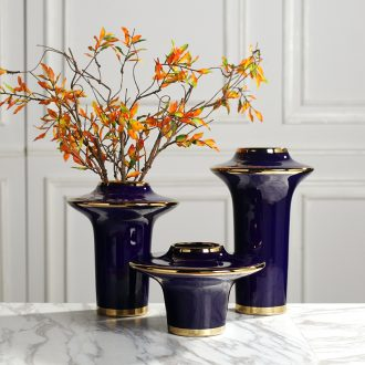 Vase Nordic furnishing articles, creative living room blue light much contemporary and contracted ceramic table dry flower arranging flowers adornment