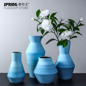 Nordic ceramic vase furnishing articles creative flower arrangement sitting room manual drawing gradients, flower implement bedroom home decoration