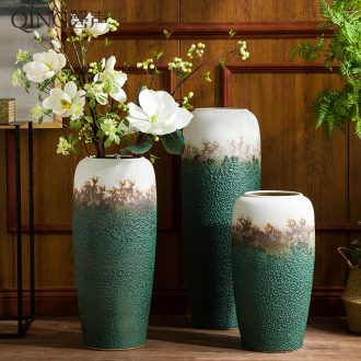 Ceramic vase furnishing articles sitting room TV ark adornment flower arranging dried flower porcelain contracted and contemporary household decoration POTS