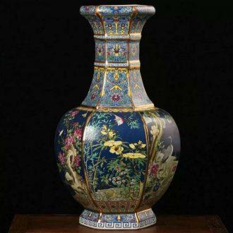 Jingdezhen porcelain colored enamel porcelain vases 20 high 30 to 50 high classical porcelain famille rose porcelain vase vase