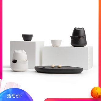 Mr Nan shan polar bears a crack cup pot 2 cups of portable tea set travel hot ceramic teapot