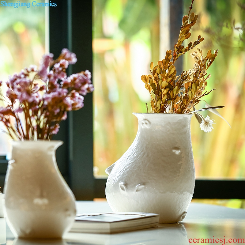 Ceramic dry flower vase floral decoration is contemporary and contracted original creative flower arranging furnishing articles home sitting room adornment