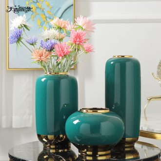 Jingdezhen vase Nordic ceramic furnishing articles simulation flower arranging the sitting room porch is contracted and contemporary hotel villa decorations